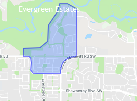 Evergreen Estates Map